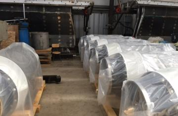 Turbine/Generator units ready for shipment to site